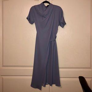 Topshop powder blue midi dress 4